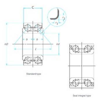 42 mm x 80 mm x 37 mm  SKF BAH-0004A Rolamentos de esferas de contacto angular