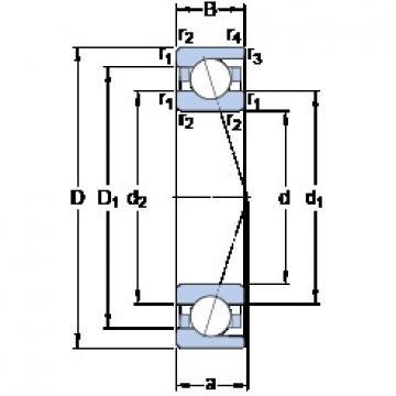 95 mm x 170 mm x 32 mm  SKF 7219 ACD/HCP4A Rolamentos de esferas de contacto angular