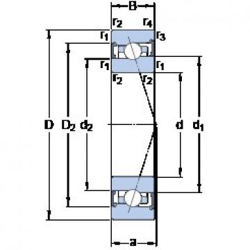 120 mm x 165 mm x 22 mm  SKF S71924 ACB/P4A Rolamentos de esferas de contacto angular