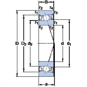 70 mm x 100 mm x 16 mm  SKF S71914 ACB/HCP4A Rolamentos de esferas de contacto angular
