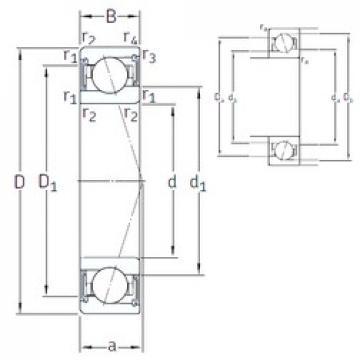 17 mm x 30 mm x 7 mm  SKF S71903 CE/HCP4A Rolamentos de esferas de contacto angular