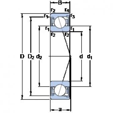 80 mm x 110 mm x 16 mm  SKF S71916 ACD/HCP4A Rolamentos de esferas de contacto angular