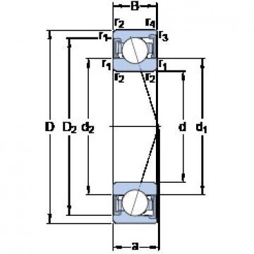 90 mm x 140 mm x 24 mm  SKF S7018 ACD/P4A Rolamentos de esferas de contacto angular