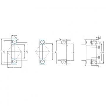 160 mm x 290 mm x 48 mm  SKF QJ232N2MA Rolamentos de esferas de contacto angular