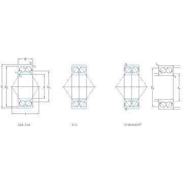 40 mm x 90 mm x 36,5 mm  SKF 3308ATN9 Rolamentos de esferas de contacto angular