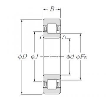 105 mm x 190 mm x 36 mm  NTN NJ221 Rolamentos cilíndricos