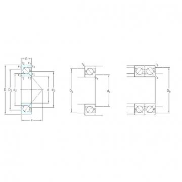 55 mm x 120 mm x 29 mm  SKF 7311BECBY Rolamentos de esferas de contacto angular