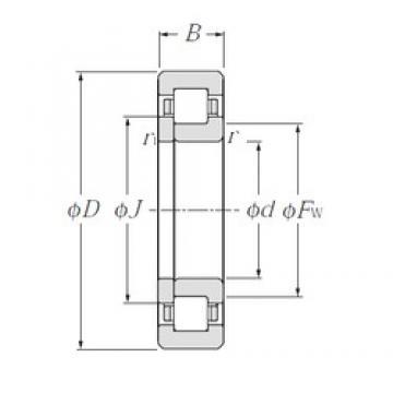 70 mm x 125 mm x 24 mm  NTN NUP214E Rolamentos cilíndricos