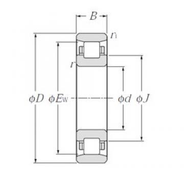 110 mm x 170 mm x 28 mm  NTN N1022 Rolamentos cilíndricos