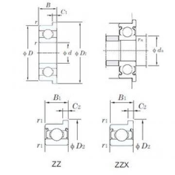6 mm x 17 mm x 6 mm  KOYO F606ZZ Rolamentos de esferas profundas