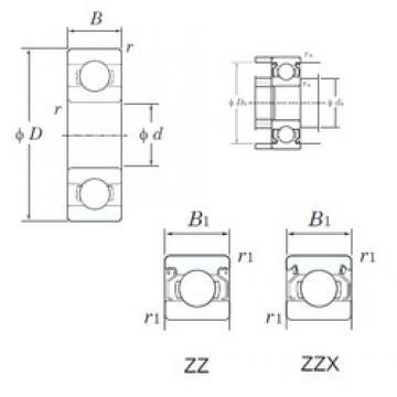 2,5 mm x 6 mm x 2,6 mm  KOYO W68/2.5ZZ Rolamentos de esferas profundas