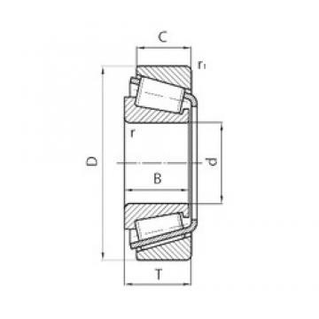 34,987 mm x 61,975 mm x 17 mm  FAG 521425 T29 AW220 Rolamentos de rolos gravados