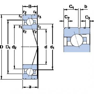 95 mm x 145 mm x 24 mm  SKF 7019 CE/HCP4AL Rolamentos de esferas de contacto angular