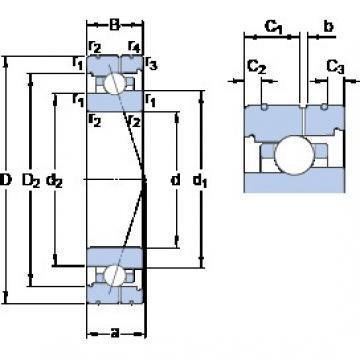 60 mm x 85 mm x 13 mm  SKF 71912 ACB/HCP4AL Rolamentos de esferas de contacto angular