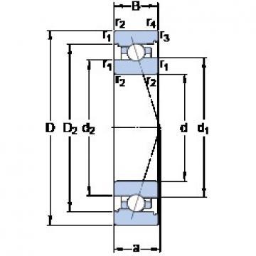 95 mm x 145 mm x 24 mm  SKF 7019 CB/P4A Rolamentos de esferas de contacto angular