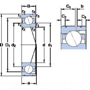 50 mm x 80 mm x 16 mm  SKF 7010 ACD/HCP4AL Rolamentos de esferas de contacto angular