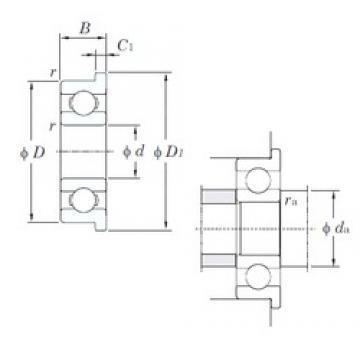 2,5 mm x 6 mm x 1,8 mm  KOYO F68/2,5 Rolamentos de esferas profundas