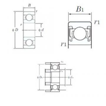 9 mm x 17 mm x 5 mm  KOYO W689-2RU Rolamentos de esferas profundas