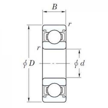 5 mm x 14 mm x 5 mm  KOYO SE 605 ZZSTMG3 Rolamentos de esferas profundas