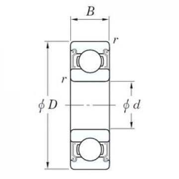 8 mm x 22 mm x 7 mm  KOYO SE 608 ZZSTPRZ Rolamentos de esferas profundas