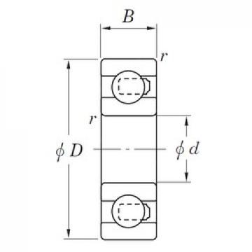 25 mm x 47 mm x 12 mm  KOYO 3NC6005HT4 GF Rolamentos de esferas profundas