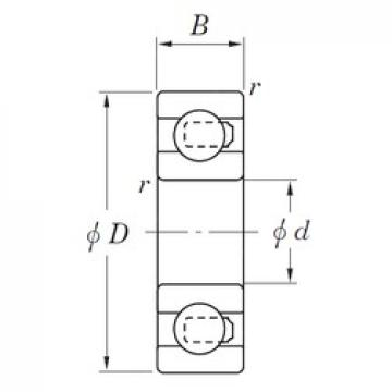 8 mm x 24 mm x 8 mm  KOYO 3NC628ST4 Rolamentos de esferas profundas
