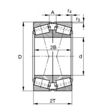 FAG 32252-XL-DF-A550-600 Rolamentos de rolos gravados