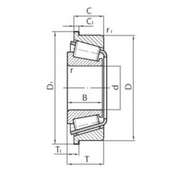 30 mm x 55 mm x 17 mm  FAG F-568895 Rolamentos de rolos gravados