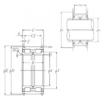 380 mm x 560 mm x 243 mm  NTN SL04-5076NR Rolamentos cilíndricos