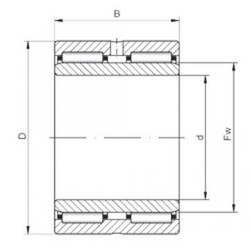 95 mm x 130 mm x 63 mm  ISO NA6919 Rolamentos de agulha