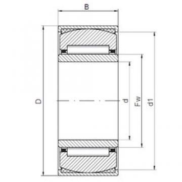 22 mm x 44 mm x 20 mm  ISO PNA22/44 Rolamentos de agulha