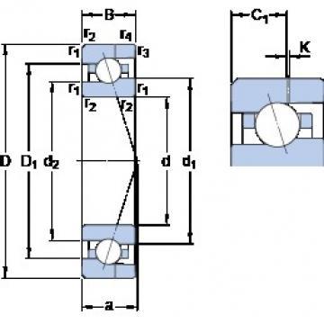 17 mm x 35 mm x 10 mm  SKF 7003 CE/P4AH Rolamentos de esferas de contacto angular