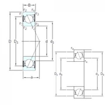25 mm x 52 mm x 15 mm  SKF SS7205 ACD/HCP4A Rolamentos de esferas de contacto angular