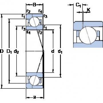 55 mm x 80 mm x 13 mm  SKF 71911 ACE/P4AH1 Rolamentos de esferas de contacto angular