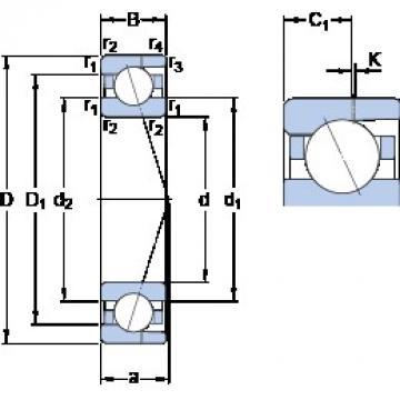 6 mm x 17 mm x 6 mm  SKF 706 CD/HCP4AH Rolamentos de esferas de contacto angular