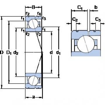 30 mm x 47 mm x 9 mm  SKF 71906 CE/P4AL Rolamentos de esferas de contacto angular