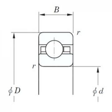 152,4 mm x 165,1 mm x 6,35 mm  KOYO KAC060 Rolamentos de esferas profundas