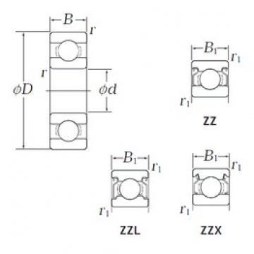 4,762 mm x 7,938 mm x 3,175 mm  KOYO WOB81 ZZX Rolamentos de esferas profundas