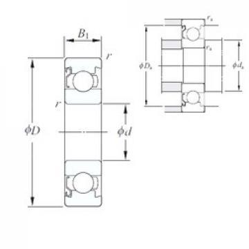 4 mm x 10 mm x 3 mm  KOYO 694/1BZ Rolamentos de esferas profundas